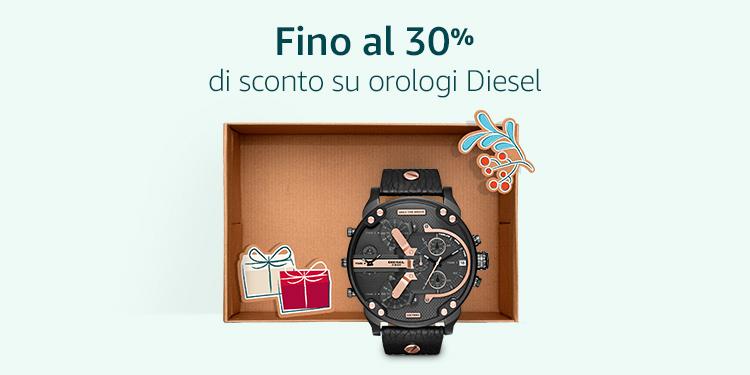 Fino a 30% di sconto su orologi Diesel
