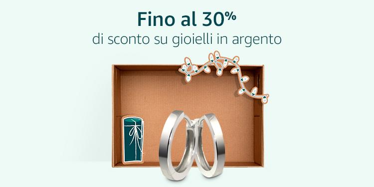 Fino a 30% di sconto su gioielli in argento