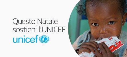 Questo Natale sostieni l'UNICEF