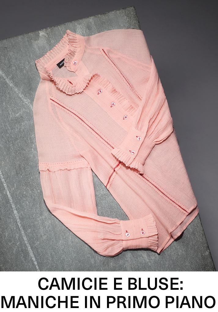 Camicie e bluse: maniche in primo piano
