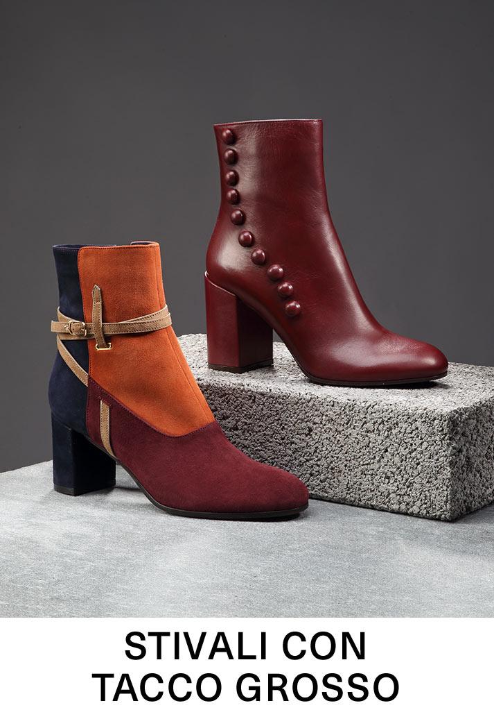 Stivali con tacco grosso
