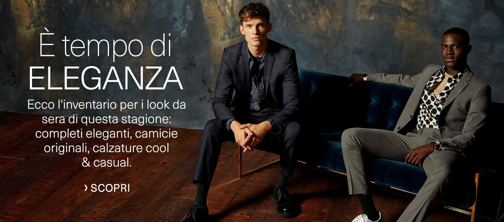 È tempo di eleganza. Ecco l'inventario per i look da sera di questa stagione: completi eleganti, camicie originali, calzature cool & casual.
