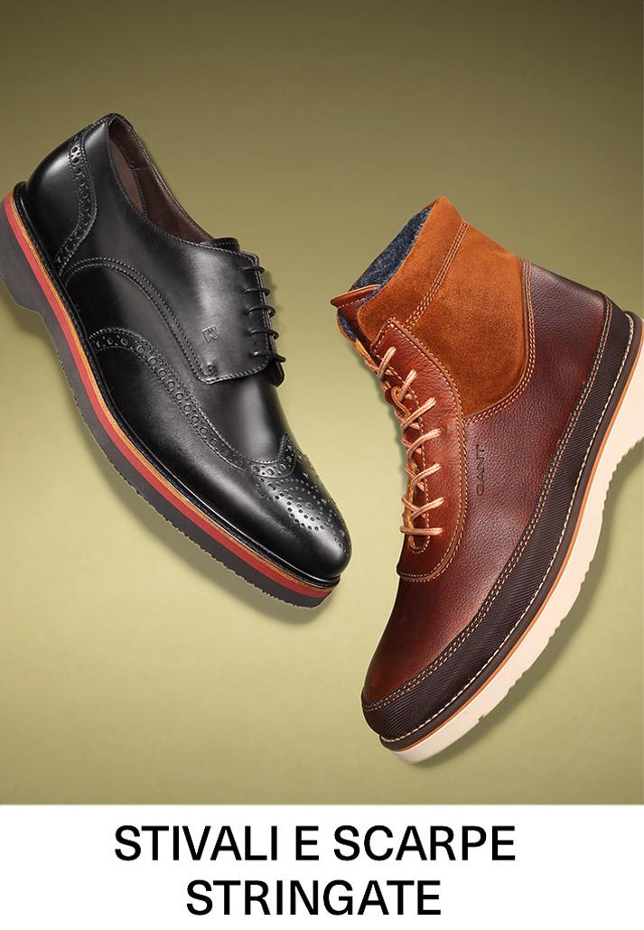 Stivali e scarpe stringate