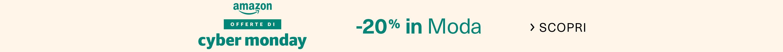 Offerte di Cyber Monday: -20% in Moda