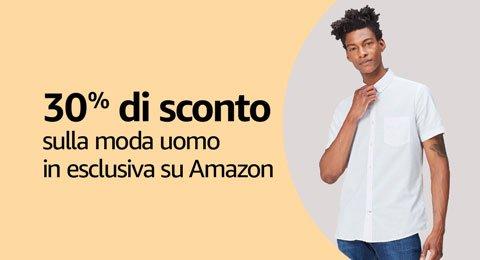 30% di sconto sulla moda uomo in esclusiva su Amazon