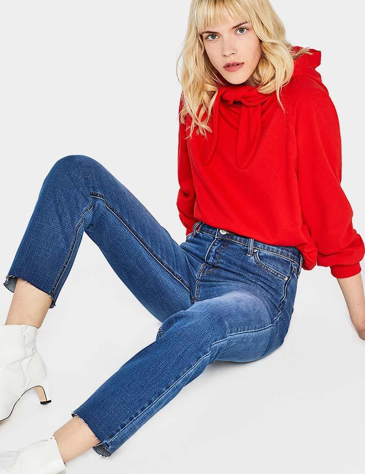 find. High Rise Crop Jeans