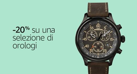 -20% su una selezione di orologi