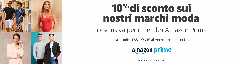 Amazon codice sconto moda