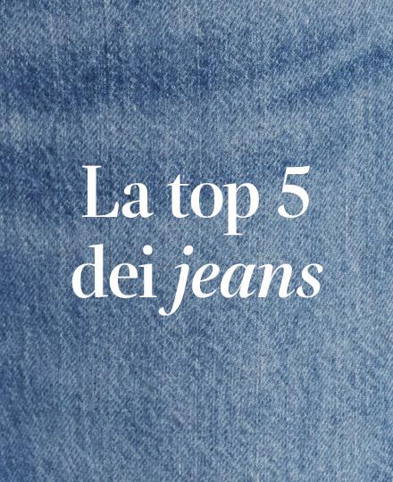 La top 5 dei jeans