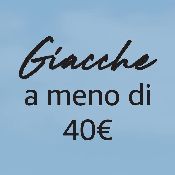 Giacche a meno di 40€
