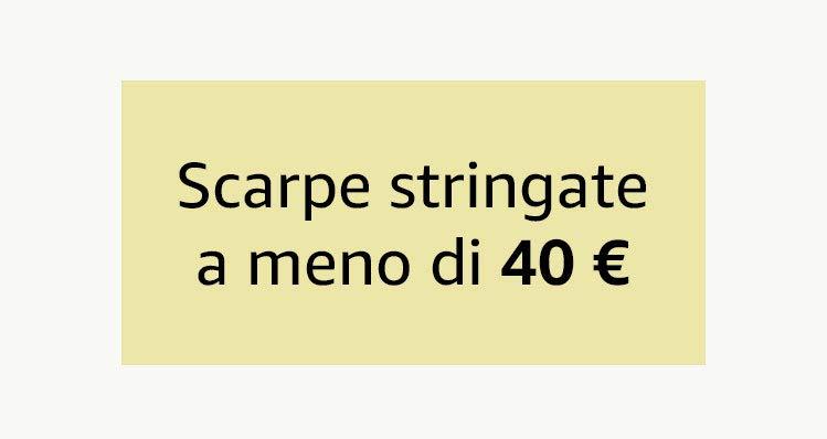 Scarpe stringate a meno di 40 €