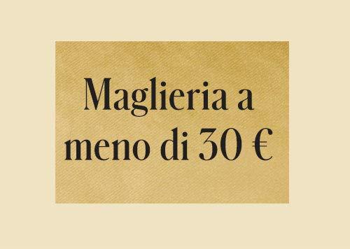 Maglieria a meno di 30 €