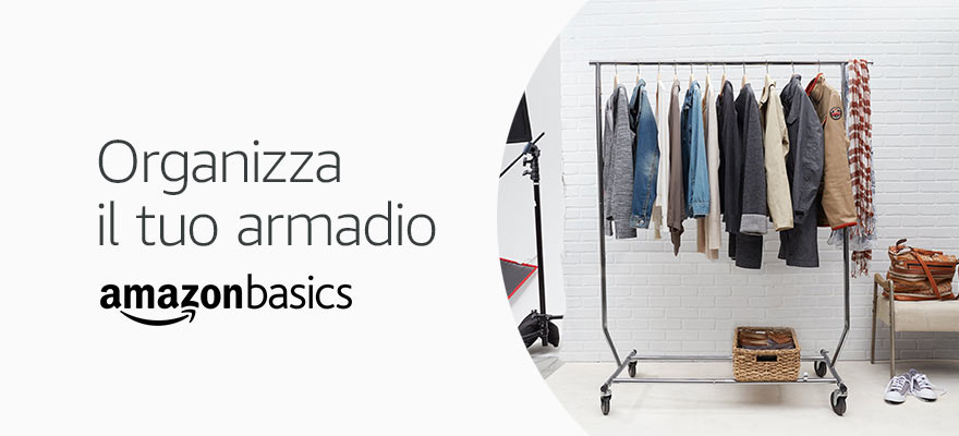 Organizza il tuo armadio AmazonBasics