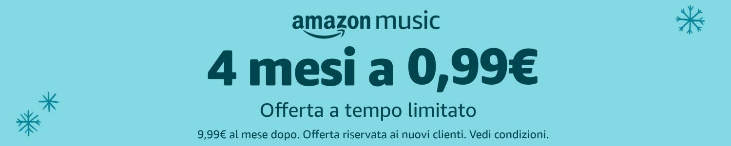 Amazon Music Unlimited - 4 mesi a 0.99€