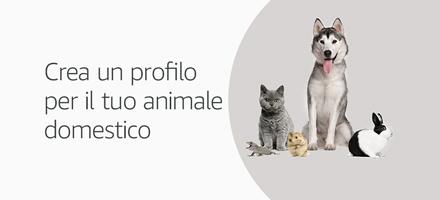 Crea un profilo per il tuo animale domestico