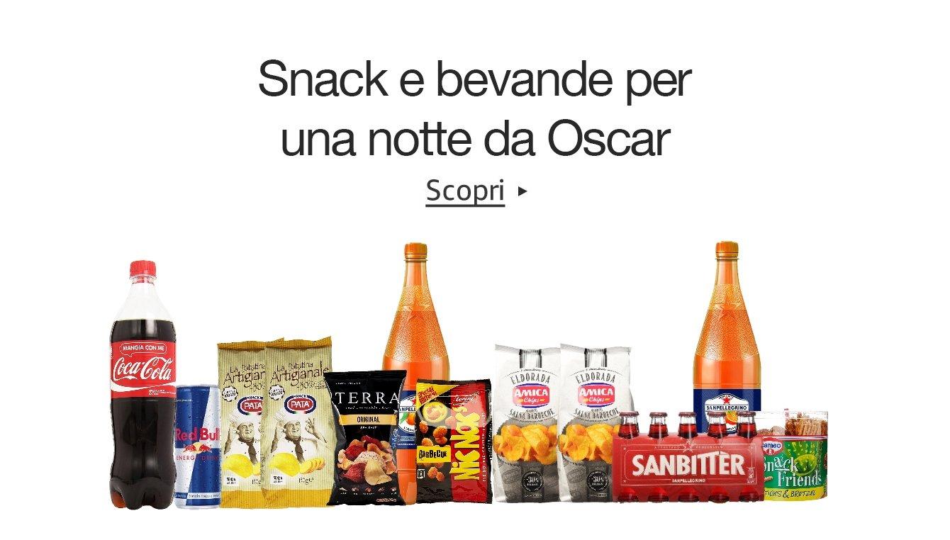 Snack e bevande per la notte degli Oscar