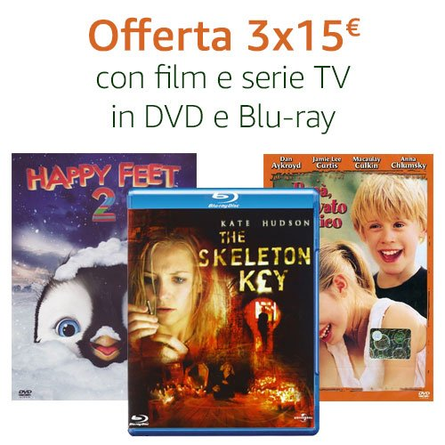 Offerta 3X15 DVD e Blu-ray