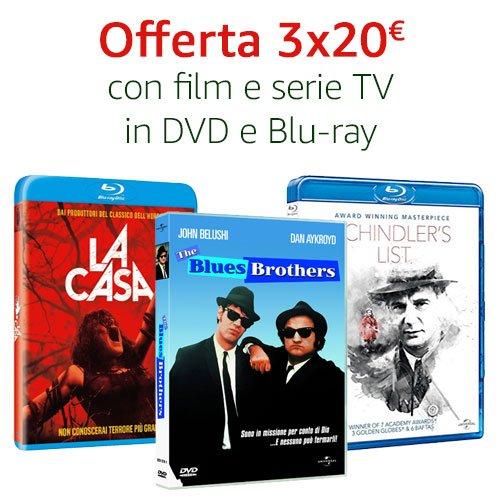 Offerta 3X20 DVD e Blu-ray