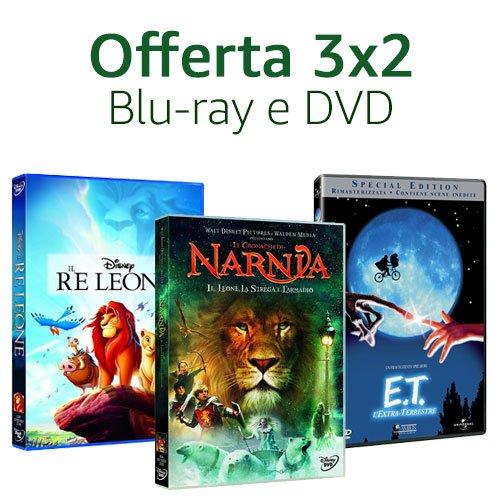 Offerta DVD & Blu-ray: 3x2