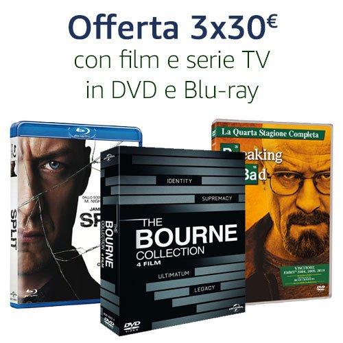 Offerta 3X30 DVD e Blu-ray