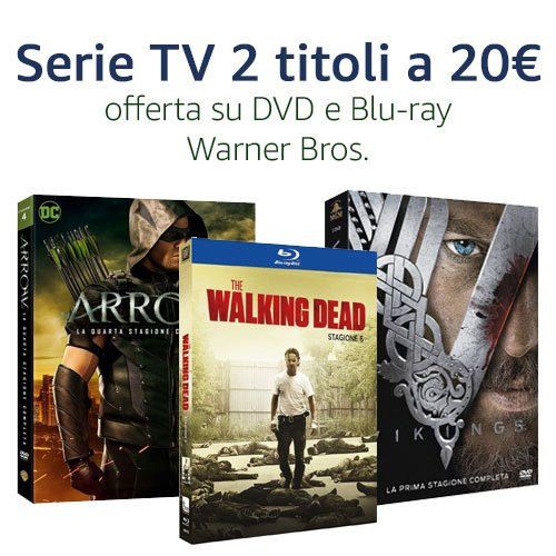 Offerta Warner Bros. DVD e Blu-ray 2x20€