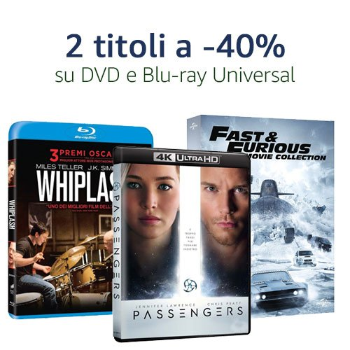 DVD e Blu-ray 2 titoli a -40%