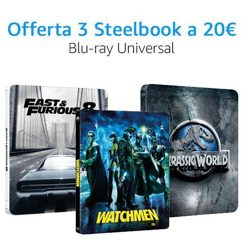 Offerta 3X20 Universal DVD e Blu-ray
