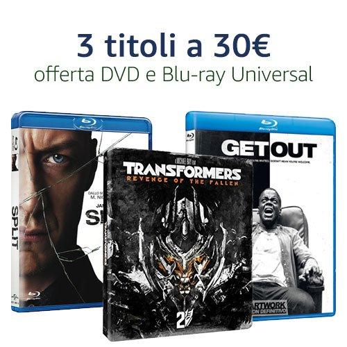 Offerta 3X30 Universal DVD e Blu-ray