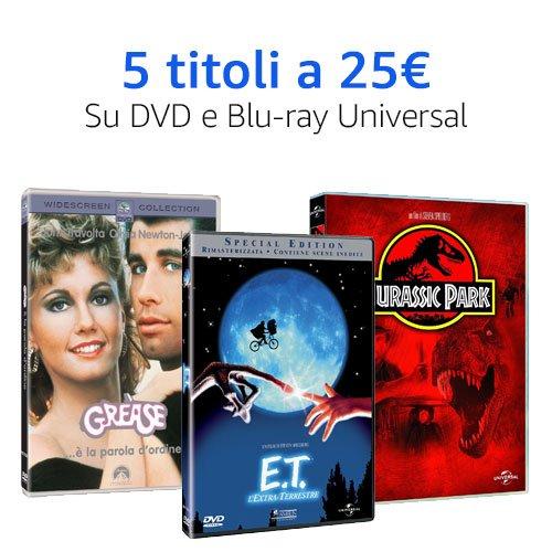 Offerta 5X25 Universal DVD e Blu-ray