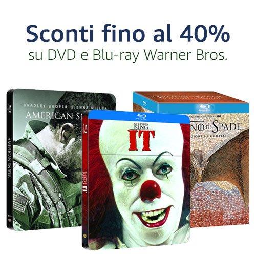 Offerta Warner Bros. Blu-ray e DVD: Titoli fino al 40% di sconto