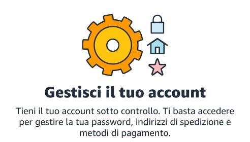 Gestisci il tuo account