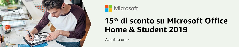 15% di sconto su Microsoft Office Home & Student 2019