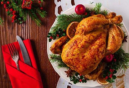 Cibo per Natale e attrezzi da cucina