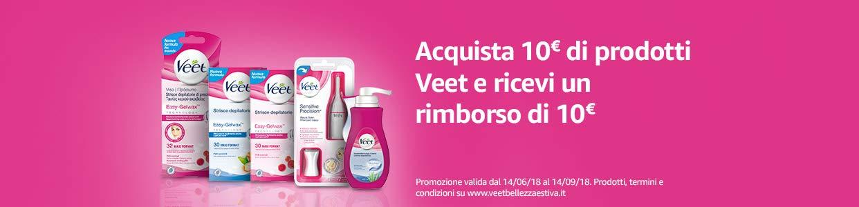 promozione Veet acquista 10euro di prodotto, ricevi 10 euro