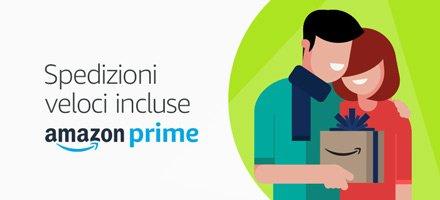 Spedizioni veloci incluse con Amazon Prime