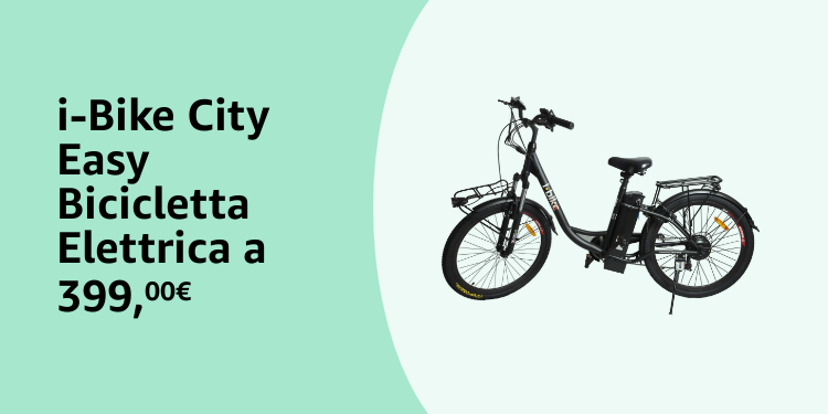 i-Bike City Easy bicicletta elettrica a 399,99