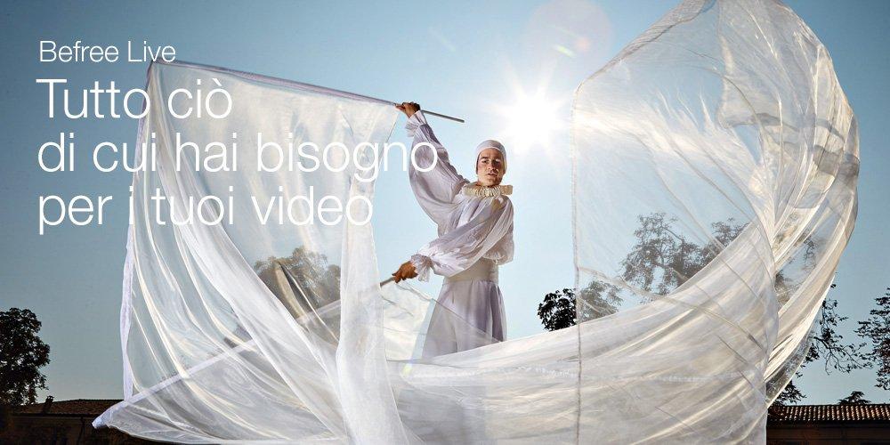Befree Live tutto ciò di cui hai bisogno per i tuoi video