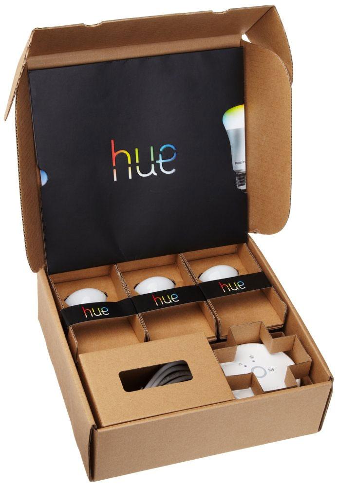 lampadina hue : Lo starter kit contiene: 3 Lampadine LED Hue con attacco E27, un ...