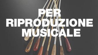 Per riproduzione musicale