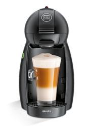 Piccolo Matt Black KP1000 Krups, macchina per caffè espresso manuale. NESCAFÉ DOLCE GUSTO
