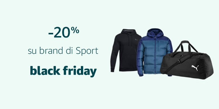 -20% su brand di Sport