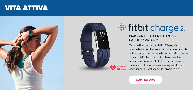 Fitbit Charge 2 Braccialetto per il fitness e battito cardiaco