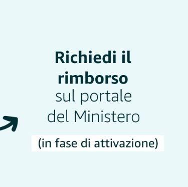 Richiedi il rimborso sul portale del Ministero (in fase di attivazione)