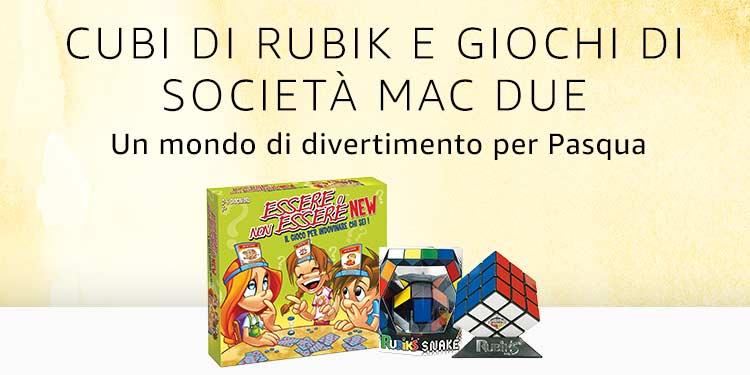 Cubi di Rubik e giochi di società Mac Due