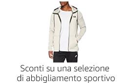Sconti su una selezione di abbigliamento sportivo