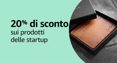20% di sconto sui prodotti delle startup