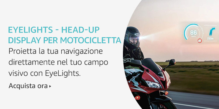 Amazon Launchpad: EyeLights - Head-up display per motocicletta