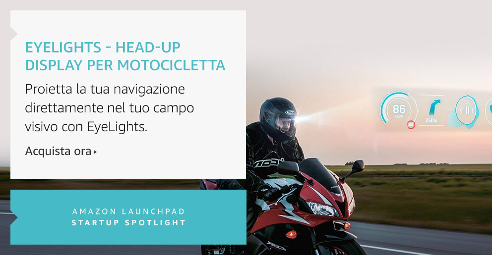 Amazon Launchpad:EyeLights - Head-up display per motocicletta