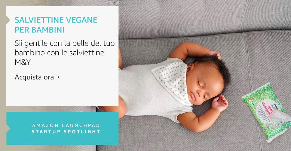 Amazon Launchpad:Salviettine vegane per bambini