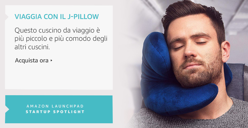 Amazon Launchpad Viaggia con il J-Pillow